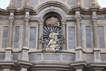 Santa Agata Sculpture at Catania Cathedral , Italy