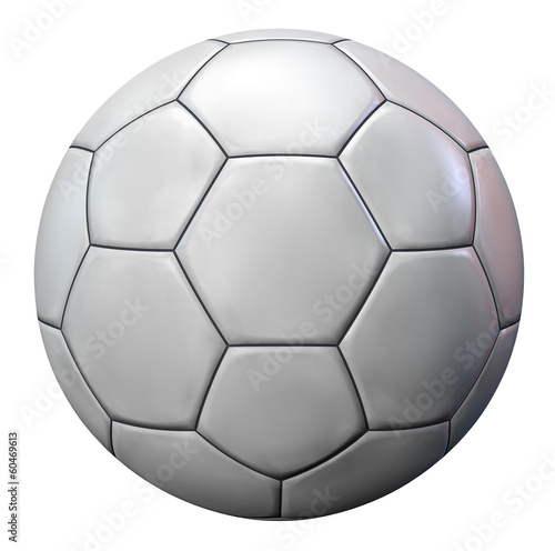 Blank White Football Ball