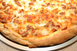 Close-Up of Perfect Sausage and Onion Pizza Pie