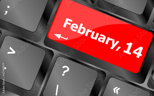 Computer keyboard key - 14 february