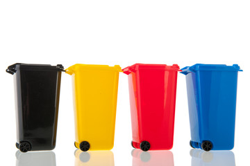 roll containers isolated over white background
