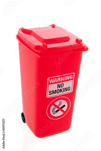 Red roll container for cigarettes
