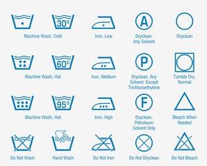 Laundry blue symbols