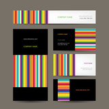 Fototapety Set of abstract creative business cards design