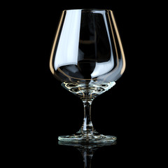 Glass Collection - Snifter. On Black Background