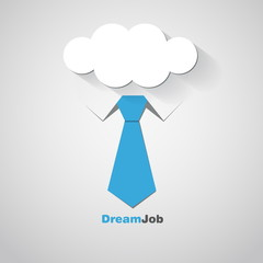 Dream job - conceptual logo eps10 illustration
