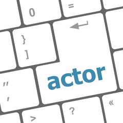 Actor button on keyboard key