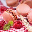 Macaroons, raspberries