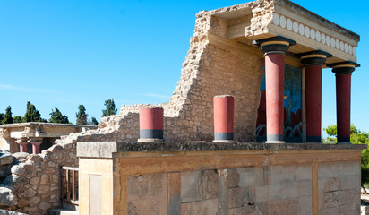 Ancient site of Knossos in Crete
