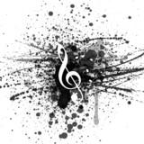 Hintergrund Musik Noten Notenschlüssel - 60472841