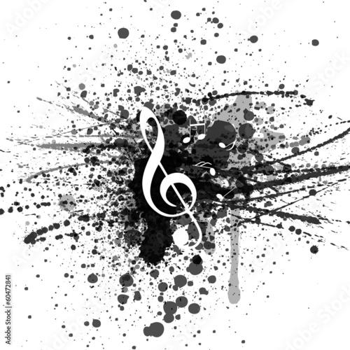 Hintergrund Musik Noten Notenschlüssel