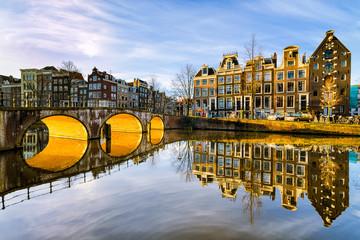 Sunny morning in Amsterdam, Netherlands