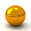 Golden volleyball ball, 3d
