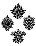 Four different foliate arabesque motifs