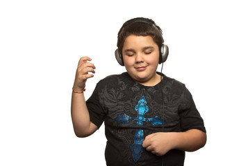 Boy playing Air-Guitar