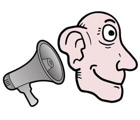 Listen megaphone