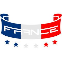 France Flag Banner Logo