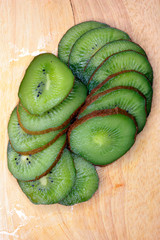 a ripe tropical fruit of kiwi as delicacy is a meal