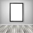 Blank empty white frame
