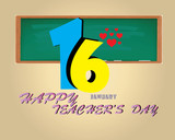 Happy Teacher 's Day Card- January 16