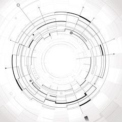 Abstract circular structure technology background.