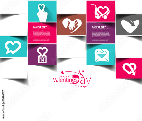 Valentine's Day Heart Design, Vector Illustration.