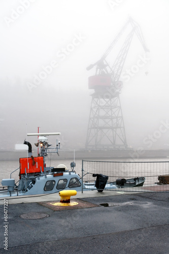 Fog In Harbor