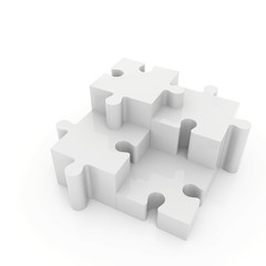 Puzzle piece illustration on white isolated