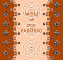 An illustration based on aboriginal style of dot painting depict