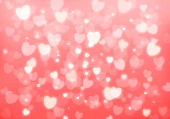 Valentine's day pink hearts background