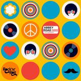 bright british musical pattern - 60479017