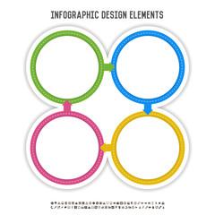 Four Circle Infographics