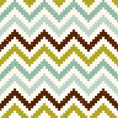 seamless nostalgic chevron background