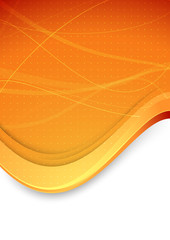 Abstract banner with waves in orange color