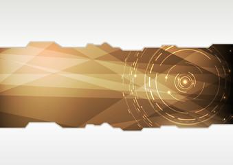 Transparent folder template in high-tech style