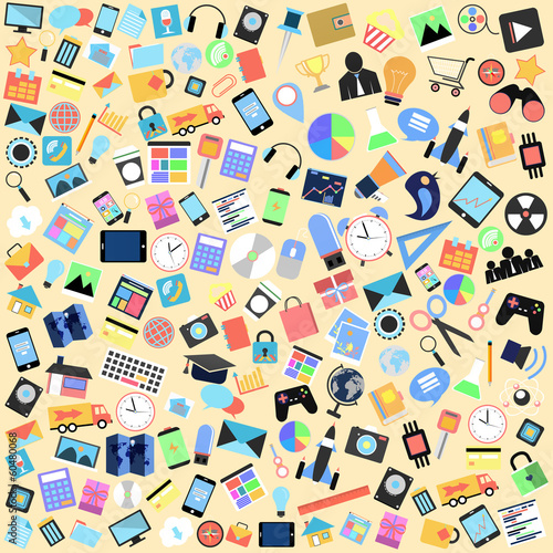 applications graphical user interface flat icons,background