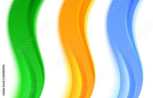 Collection of transparent web headers or dividers