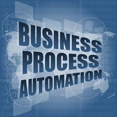 business process automation interface hi technology