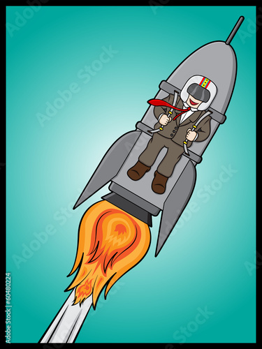 Rocket Businessman