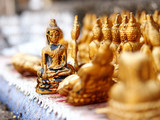 Small golden buddha statue