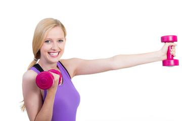 hübsche frau macht fitness