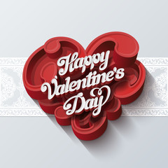 Valentines day greeting card vector design template