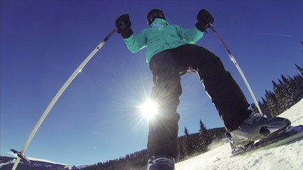 POV Woman Skiing