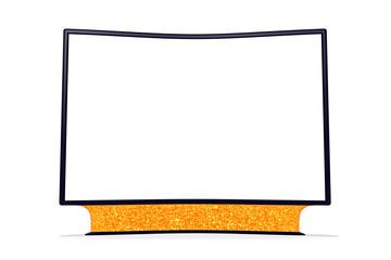 Riesen TV mit gebogenem Display