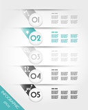 turquoise infographic template with grey balls