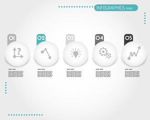 turquoise infographic balls with stickers