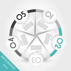 turquoise infographic ring with border