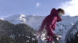 Winter Resort. Slow Motion at a rate of 240 fps