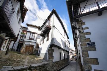 Beautiful facades in historic village of Candelario