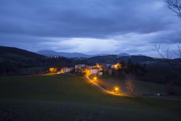 Marche village in the night